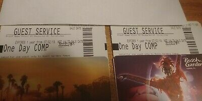 4 Entrance Admission Visit Day Pass Busch Gardens Tampa tickets Theme Park
