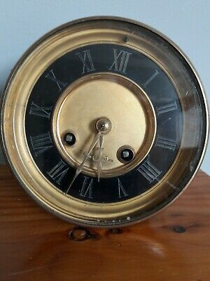 Antique French drum head clock movement by H.P.&co