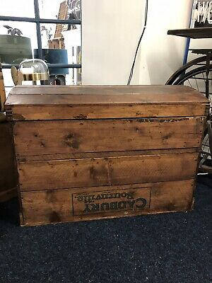 Vintage Dome Topped Wooden Cadbury Bournville Shipping Crate Box | Blanket Box