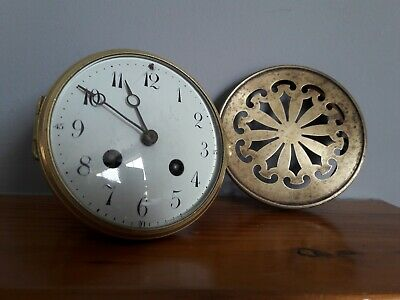 Antique French Drum head clock movement by R & Co