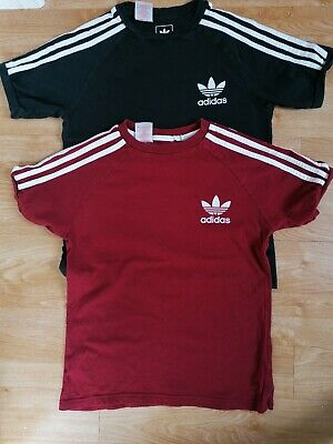 Boys Adidas T-shirts Age 11 12 Years Trefoil California