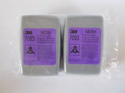 3M 7093  P100 Filter 1 Pair (2 Cartridges) MADE IN CANADA  EXP 1/2025  USA Stock