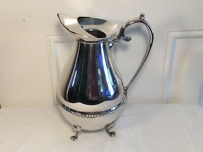 Lovely Large Silver Plated Footed Water Jug