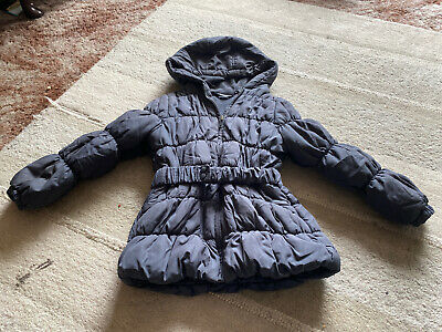 Girls George Gray Padded Coat - Size 5-6 Years
