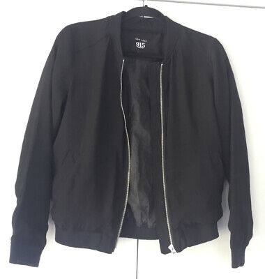 New Look 915 Generation - Black Bomber Jacket 12 - 13 Yrs