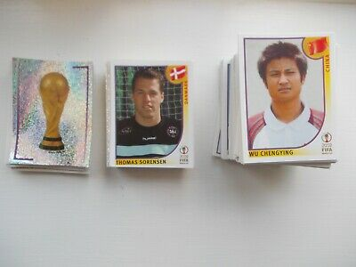 panini world cup 2002 choose 5 all different stickers  from the list