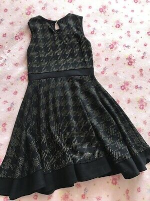 Girls Black/Gold River Island Dress age 9/10 Years