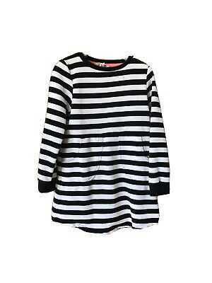 H And M H&M 5-6 Years Girls Black And White Hoop Jumper Dress VGC Summer Sailor