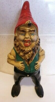 Antique Garden Gnome. 1095 English Terracotta Garden Gnome Ornament 22cm Tall.