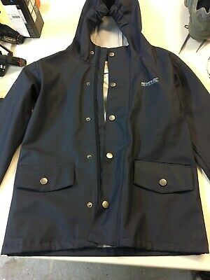 Regatta Great Outdoors Blue Rain Jacket Age  7/8 Years Excellent Condition