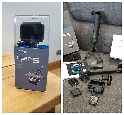 GoPro Hero 5 Session HD Waterproof Action Camera - Black 4K Action Cam (Boxed)