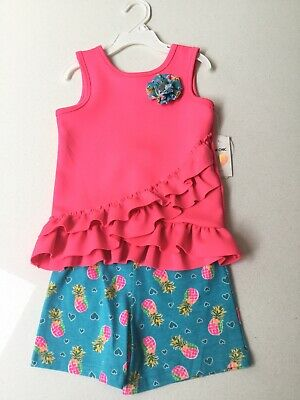 Girls Adorable 2 Piece Shorts Set Age 5 Years BNWT