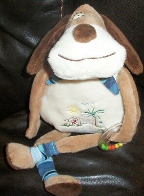 Stephan Baby Puppy Dog Plush rattle 13""
