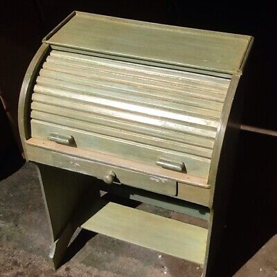 Vintage Childs Small Roll Top Desk