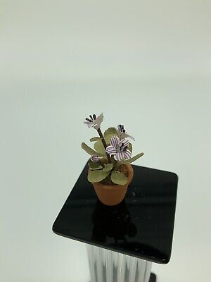 Dollhouse Miniature Artisan Signed Barb Plevan Patio Plant (r)