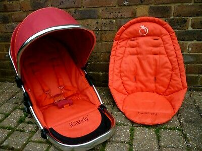 iCandy Peach Blossom (Double) LOWER Seat Unit in Tomato-Good Clean Condition