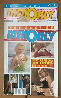 2 x Best of Men Only No 20 & 36 Vintage Mens Glamour Magazines 1988 & 1996