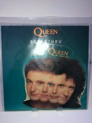 """QUEEN 12"""" vinyl picture disc shaped BREAKTHRU / STEALIN 1989 (THE MIRACLE)"""