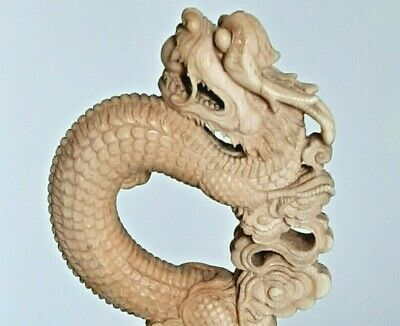 Antique Hand-Carved Chinese Dragon -- LQQK
