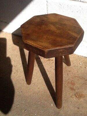 Vintage Small Round 3 Legged Rustic Milking Stool