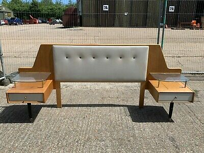 Vintage mid century E. Gomme G-Plan double headboard & nightstands Librenza Tola