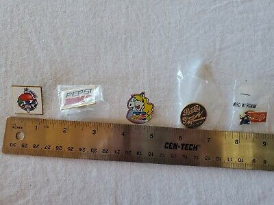 Pepsi Cola Lapel Pins  (5) never used