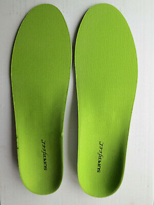 Superfeet Green High Profile Insole Size H. UK 14-15.5. New RRP £35.