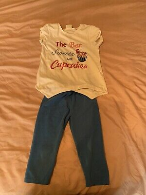 Girls Designer Mayoral Outfit Top & Leggings Age 5 Years