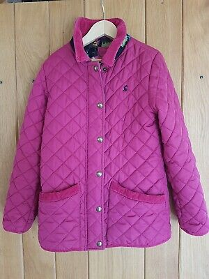 Joules Girls Quilted Jacket - 9 to 10 Years -  Raspberry Pink