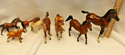 Charity Auction!  Small Mini Breyer Horse Lot- Played with condition.