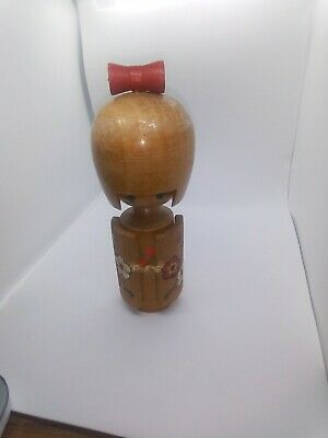 KOKESHI Japanese Doll vintage antique Japan wooden used 6.5 inch