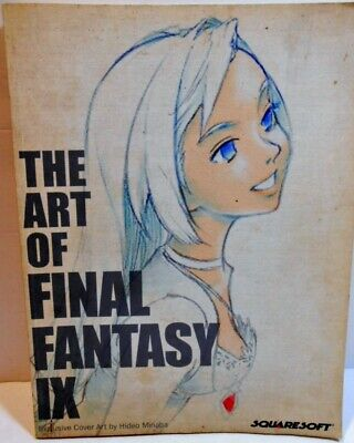 The Art Of Final Fantasy Ix Soft-Back Book  Colorful Illustrations  Squaresoft