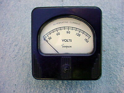 Simpson 0-150 VAC Panel Meter Voltmeter tested good