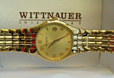 STUNNING LONGINES-WITTNAUER GENTS BRACELET WATCH.GREAT CASE/MINT DATE DIAL.1990s