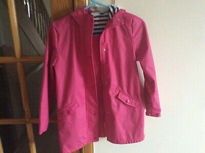 Girls Jacket Age 10-11 Pink With hood