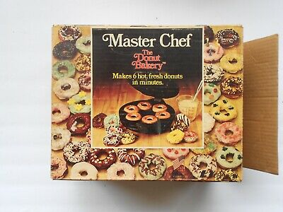 Vintage Master Chef~~The Donut Bakery~~Makes 6 Donuts in Minutes