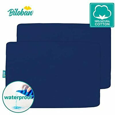 Waterproof Pack N Play Sheets Fitted, 2 Portable Playard/Mini Crib Sheets, Ultra
