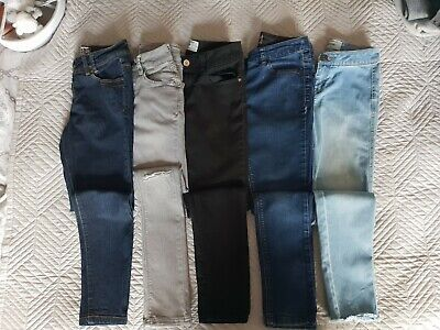Girls Newlook And Next Bundle 5 pairs of Jeans 10yrs