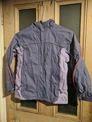 Girls Peter Storm purple lilac raincoat jacket age 9-10 years
