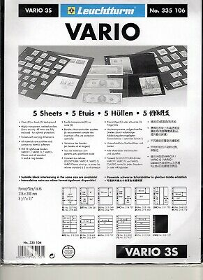 Vario 3 Pocket Stock Pages-Double Sided-Pack of 5 Sheets-Ref. #3S Dealer Stock