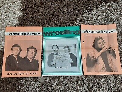 Original Wrestling Review Magazines Iss 39 and 40 1970's