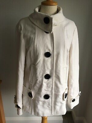Next Ladies Cream Coat / Jacket Size 16. Great Condition.