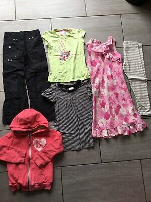 Girls Clothes Bundle Trousers, Dresses & Hoodie etc Age 8 Years Great Condition.