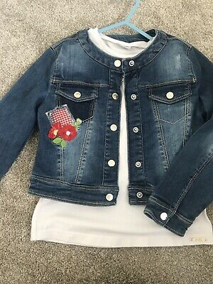 Girls Mayoral Denim Jacket Age 7 Years With Tshirt Age 8 Years