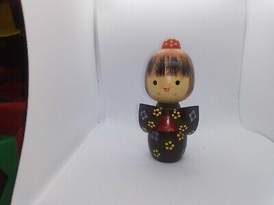 KOKESHI Japanese Doll vintage antique wooden used 5 inch