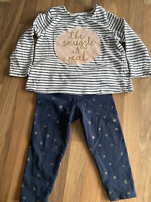 Baby Girls Set Top And Trousers 9-12 Months
