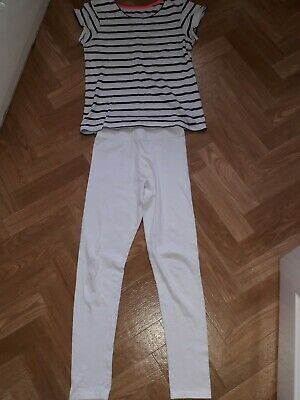 Primark YD Girls Nautical Outfit Age 9-10 Years Top And Leggings