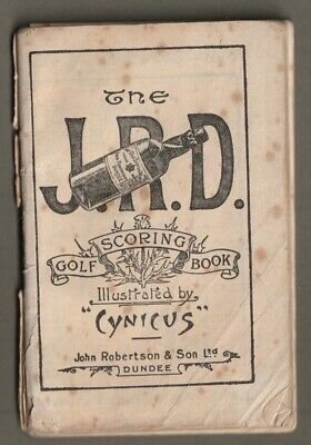 The J R D Whiskey Advertising Vintage Golf Scoring Book illustrated by Cynicus
