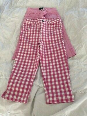 Two pairs of gorgeous pink Boden girl's trousers aged 3-4 years, barely worn