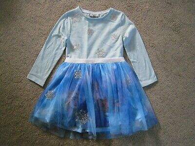 Bnwt Disney Frozen 2 Elsa Anna F&F Kids Girls Dress Outfit 3-4 Years - Free P&P